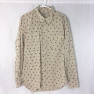 EUC Lucky Brand Pearl Snap Button Down Blouse MED